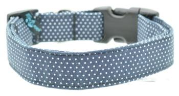 Navy Pin Dot Collar (DO-NAVYPINDOT)