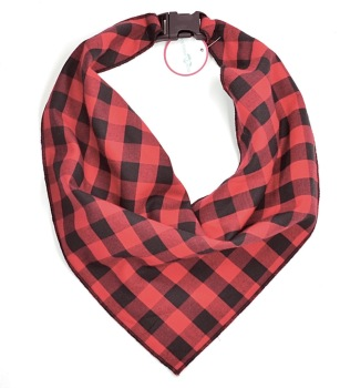 Red & Black Buffalo Plaid Scarf (DO-REDBUFFALOSCRF)