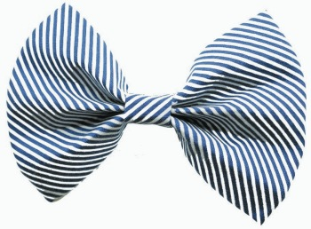 Navy Blue Stripe Bow Tie (DO-NVYSTRIPEBOW)