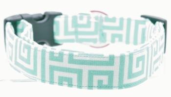 Teal Greek Key Collar (DO-TEALGREEKKEY)