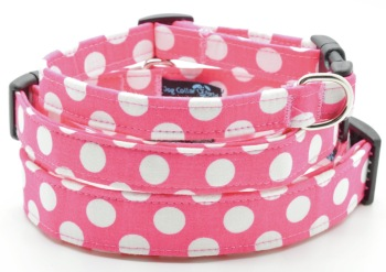 Pink/White Polka Dot Collar (DO-PINKWHTEDOT)