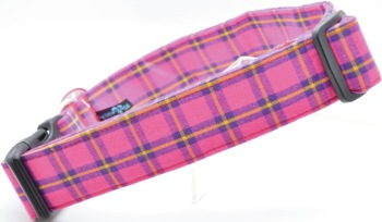 Pink and Purple Plaid Collar (DO-PNKPRPLPLAID)