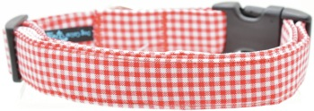 Mini Red Gingham Collar (DO-MINIREDGING)