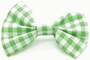 Green Gingham Bow (DO-GREENGINGBOW)