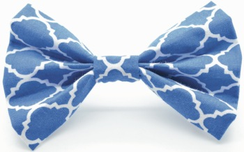 Blue Quatrefoil Bow (DO-BLUEQUATBOW)