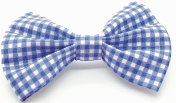 Mini Blue Gingham Bow (DO-MINIBLUEGINGBOW)