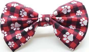 Red Paw Print Bow Tie (DO-REDPAWPRINTBOW)