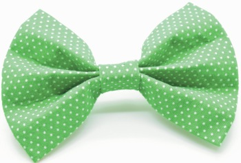 Green Pin Dot Bow (DO-GREENPINBOW)