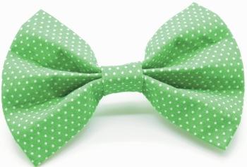 Green Pin Dot Bow (DO-GREENPINBOW)