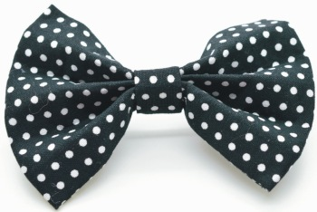 Black Polka Dot Bow  (DO-BLACKPOLKABOW)