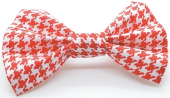 Red Houndstooth Bow (DO-REDHOUNDSBOW)