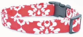 Red White Damask Collar (DO-RDWHTDAMASK)