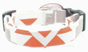 Orange and Gray Aztec Collar (DO-ORNGGRYAZTEC)