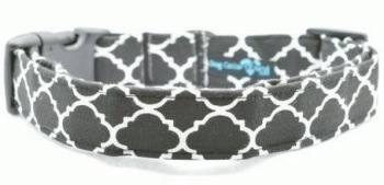 Black Quatrefoil Collar (DO-BLKQUAT)