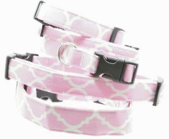 Light Pink Quatrefoil Collar (DO-LTPNKQUAT)