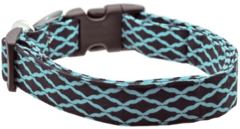 Turquoise & Black Quatrefoil Collar (DO-TURQBLACKQUAT)