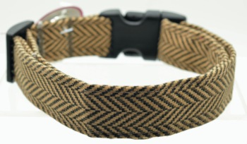Brown Herringbone Collar (DO-BRNHRGBN)