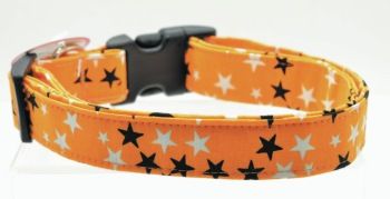 Orange Glow in the Dark Stars Collar (DO-ORNGGLWDKSTR)