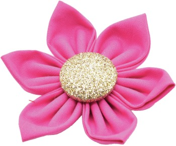 Pink Flower with Gold Button Center (DO-PNGFLWR)