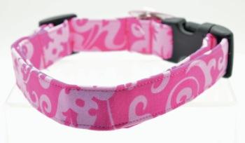 Pink Damask Collar (DO-PNKDMSK)
