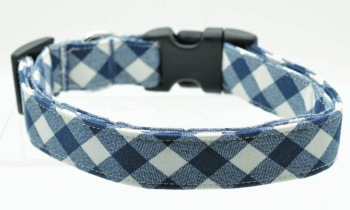 Navy & White Buffalo Plaid Collar (DO-NVBUFF)