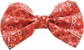 Red Bandana Bow Tie (DO-RDBNDNBOW)