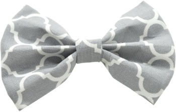 Gray Quatrefoil Bow Tie (DO-GYQUATBOW)