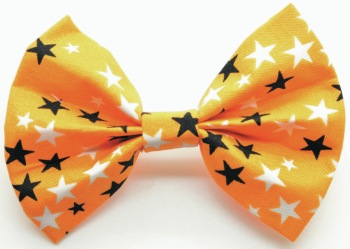 Orange Glow Dark Star Bow Tie (DO-ORNGGLWDKSTRBOW)