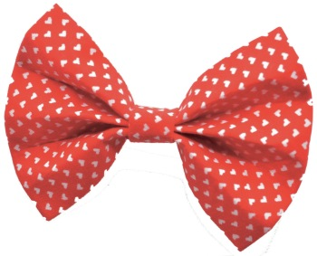 Red and White Heart Bow Tie (DO-REDHEARTBOW)