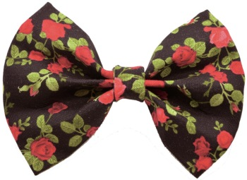 Black Red Rose Bow Tie (DO-BLKRDRSEBOW)