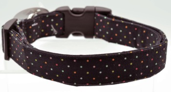 Black Multi Pin Dot Collar (DO-BLKMULTIPINDOT)