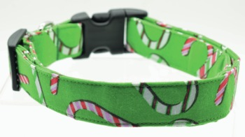 Green Candy Cane Collar (DO-GRNCANDYCANE)