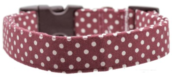 Maroon Polka Dot Collar (DO-MRNPOLKADOT)