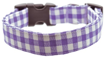 Dark Purple Gingham Collar (DO-DARKPURPLEGING)
