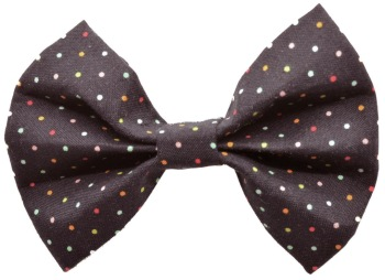 Black Multi Pin Dot Bow Tie (DO-BLACKMULTIPINBOW)